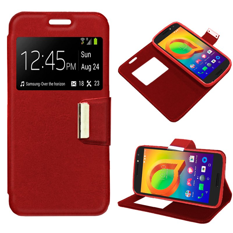 Funda Flip Cover Alcatel A3 Liso Rojo