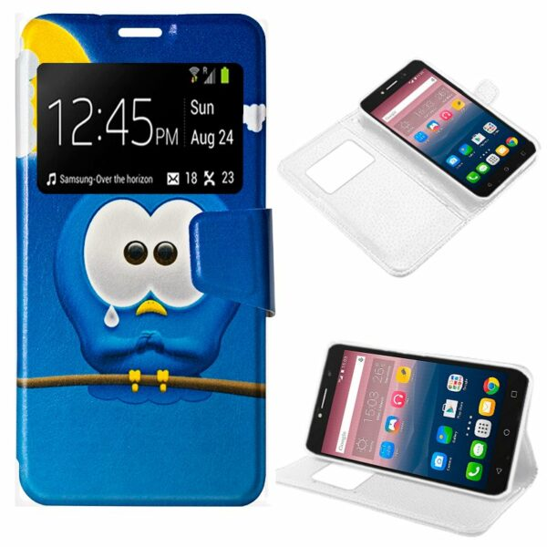 Funda Flip Cover Alcatel Pixi 4 (6) 4G Dibujos Bird