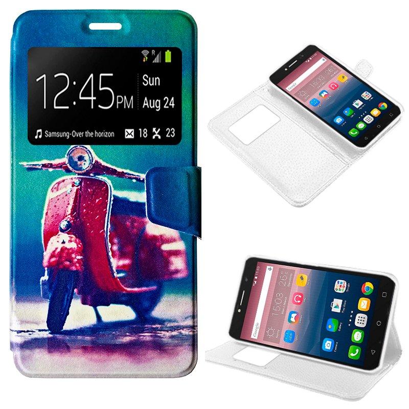 Funda Flip Cover Alcatel Pixi 4 (6) 4G Dibujos Moto