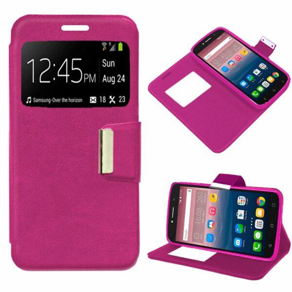 Funda Flip Cover Alcatel Pixi 4 (6) 4G Liso Rosa