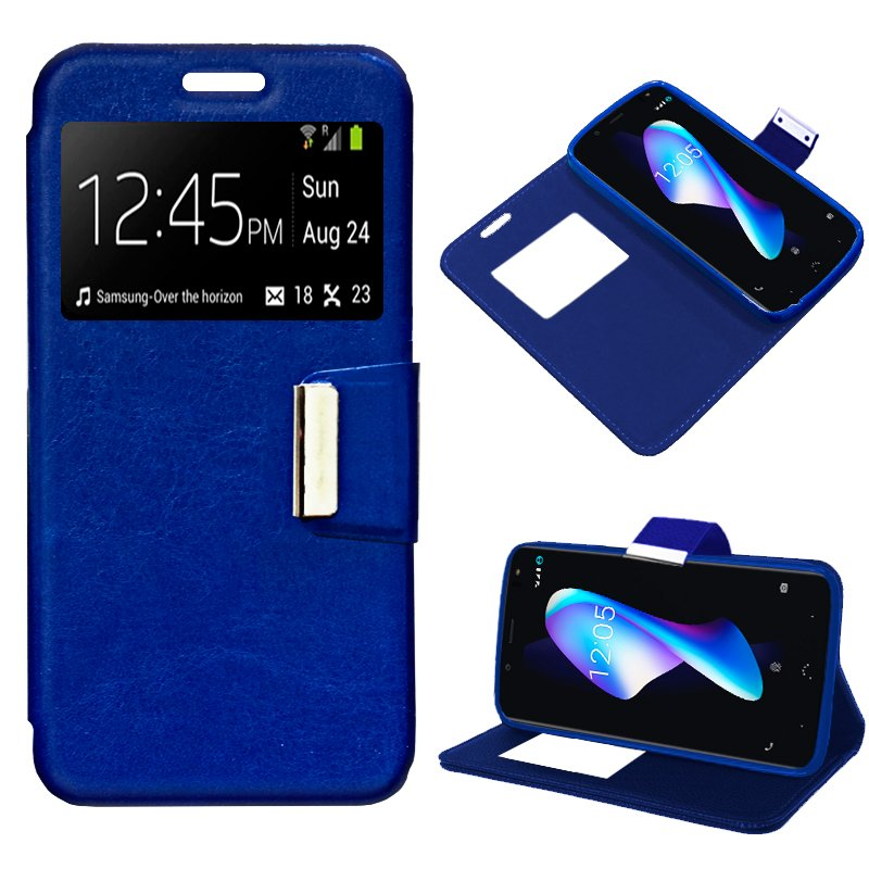 Funda Flip Cover BQ Aquaris V Plus / VS Plus Liso Azul