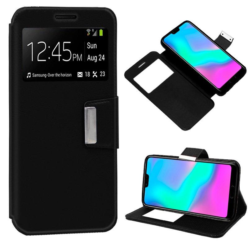 Funda Flip Cover Huawei Honor 10 Liso Negro