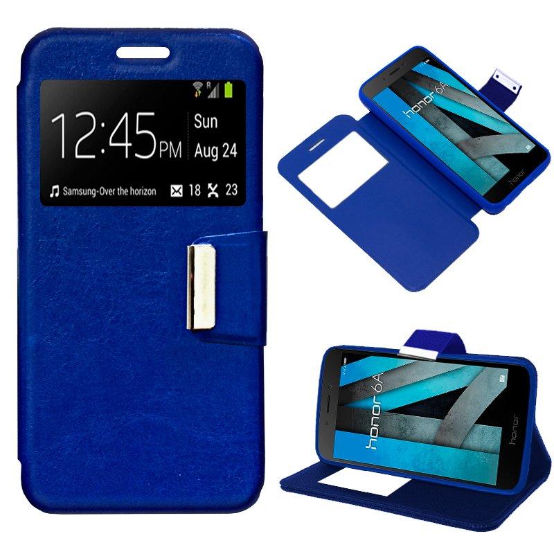 Funda Flip Cover Huawei Honor 6A Liso Azul