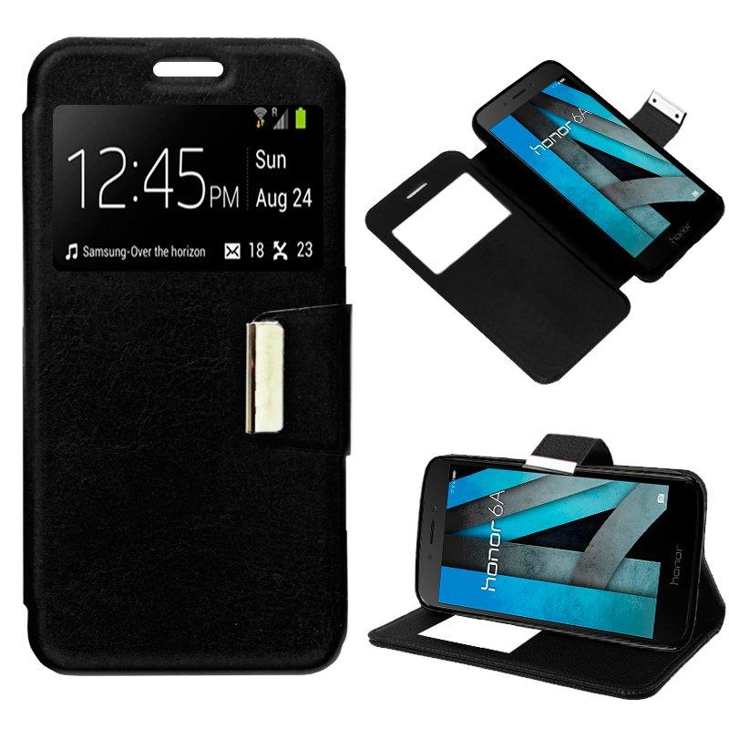 Funda Flip Cover Huawei Honor 6A Liso Negro