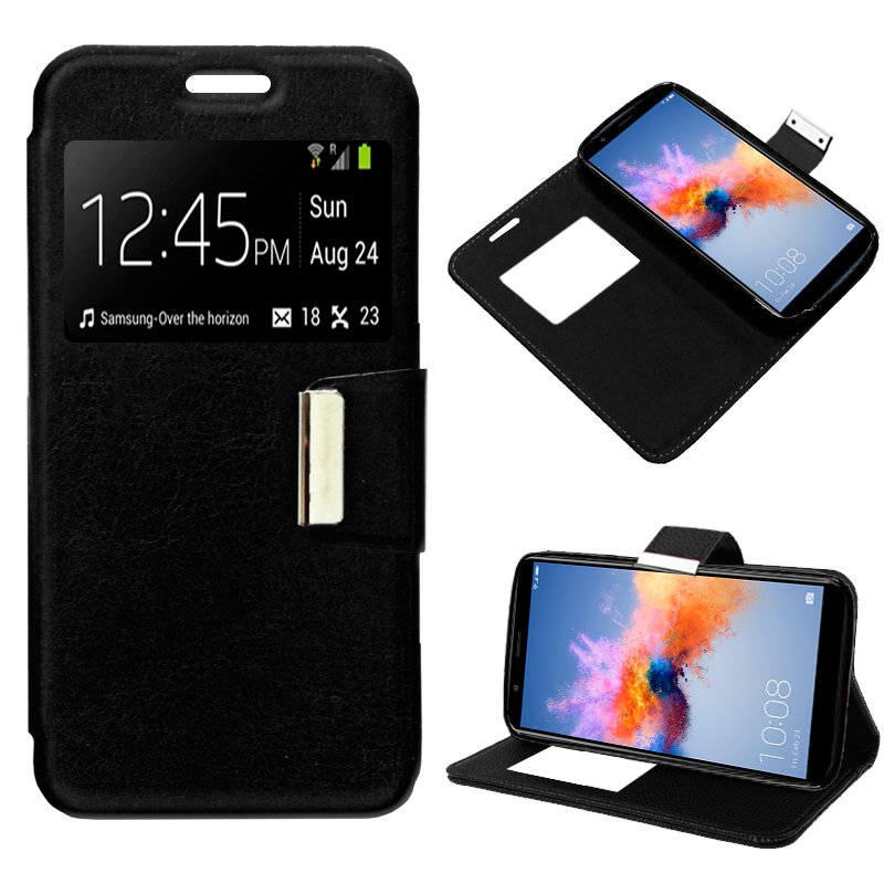 Funda Flip Cover Huawei Honor 7X Liso Negro