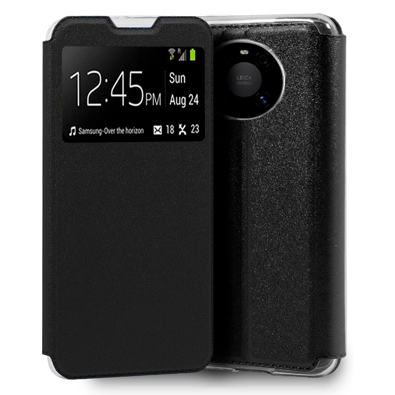 Funda Flip Cover Huawei Mate 40 Pro / 40 Pro Plus Liso Negro