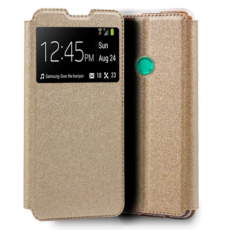 Funda Flip Cover Huawei P Smart 2020 Liso Dorado