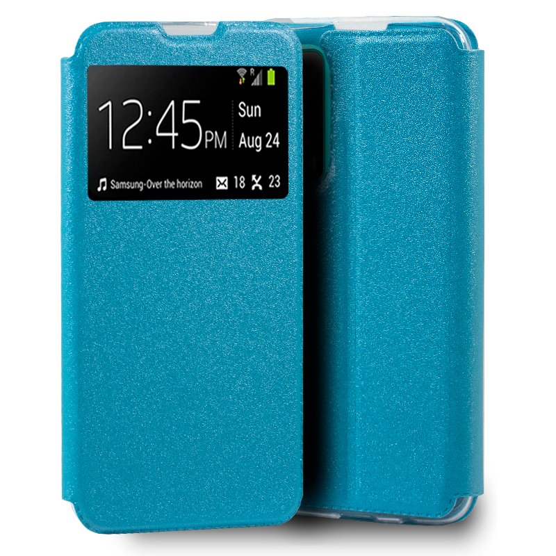 Funda Flip Cover Huawei P Smart 2021 Liso Celeste
