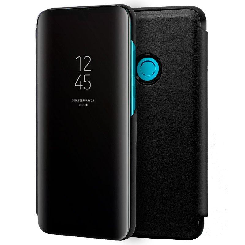 Funda Flip Cover Huawei P Smart Plus (2019) / P Smart (2019) / Honor 10 Lite / 20 Lite Clear View Negro