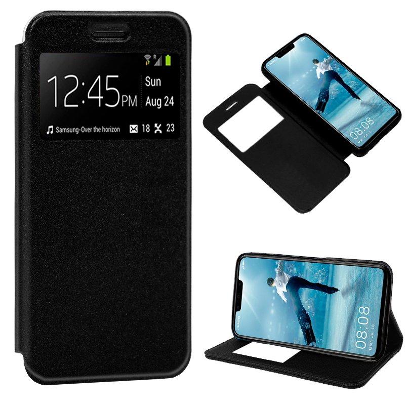 Funda Flip Cover Huawei P Smart Plus Liso Negro