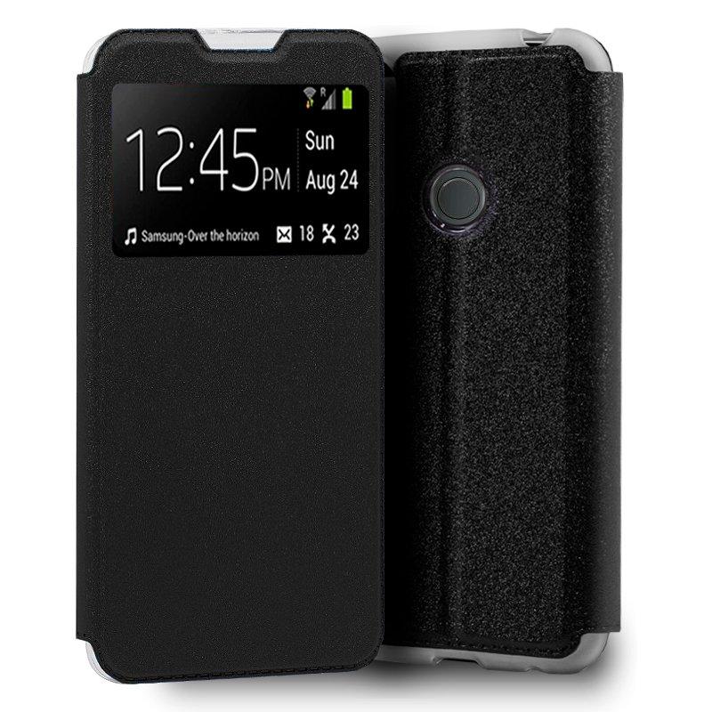 Funda Flip Cover Huawei P20 Lite Liso Negro