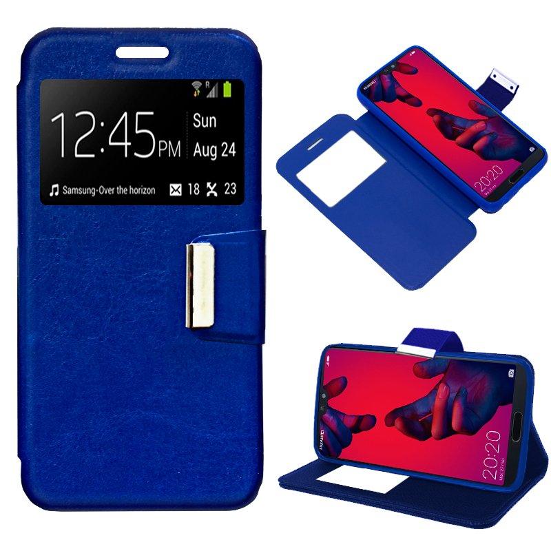 Funda Flip Cover Huawei P20 Pro Liso Azul