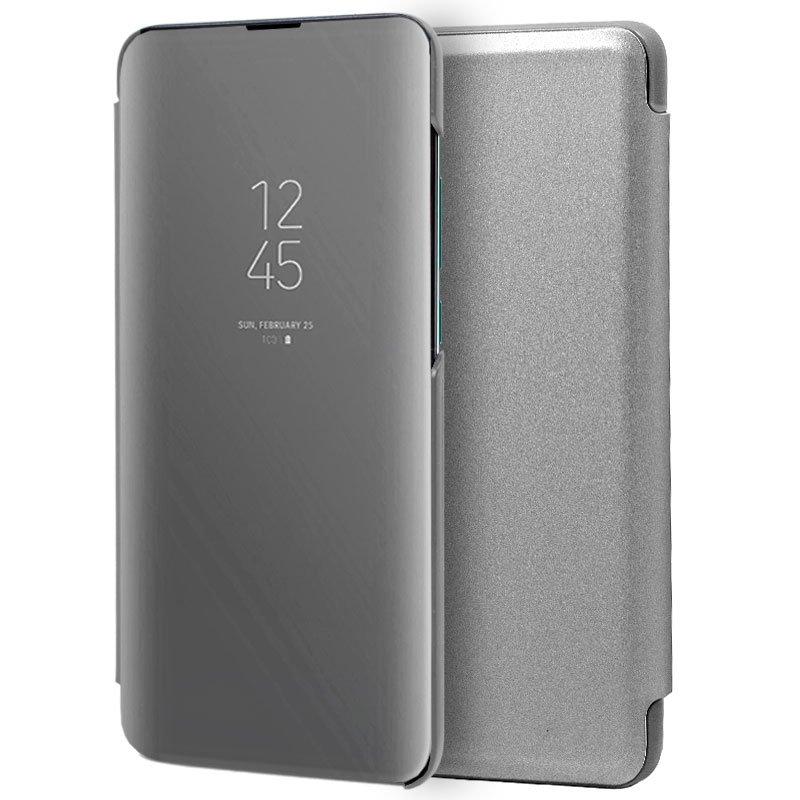 Funda Flip Cover Huawei P30 Clear View Plata