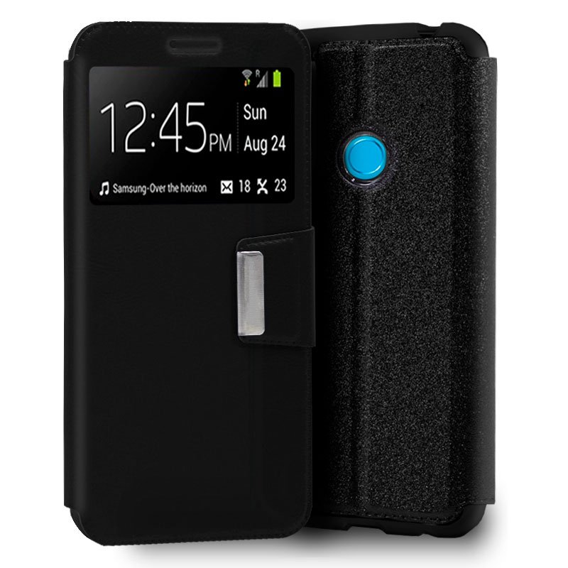 Funda Flip Cover Huawei P30 Lite Liso Negro