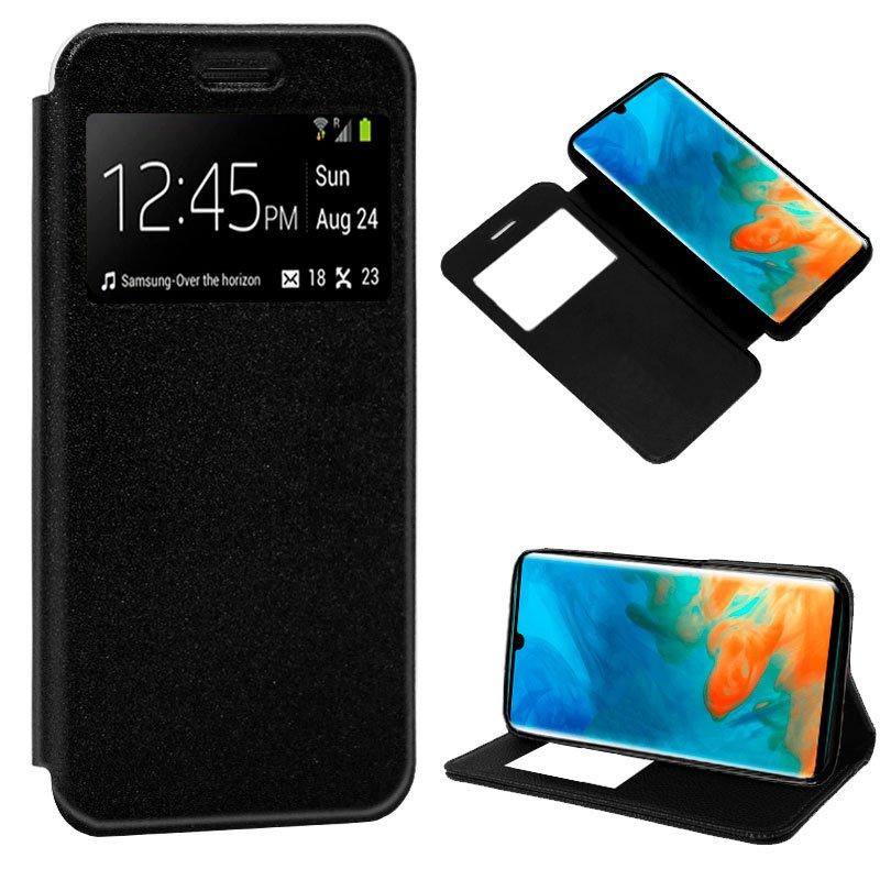 Funda Flip Cover Huawei P30 Pro Liso Negro