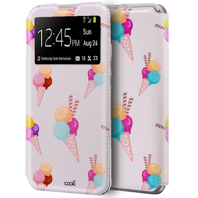 Funda Flip Cover Huawei P40 Dibujos Helados