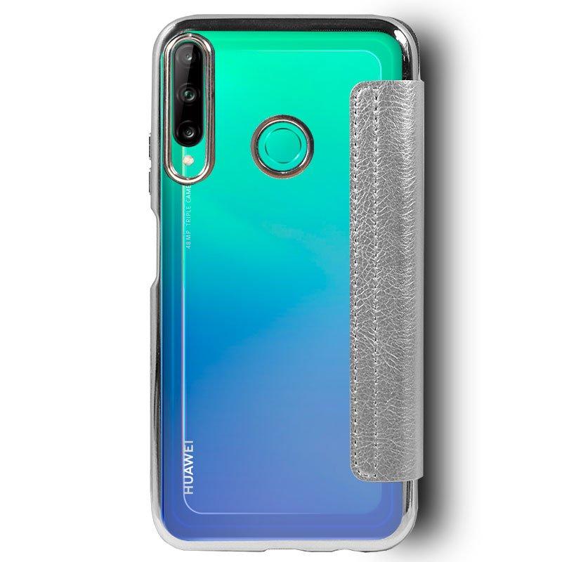 Funda Flip Cover Huawei P40 Lite E Leather Plata