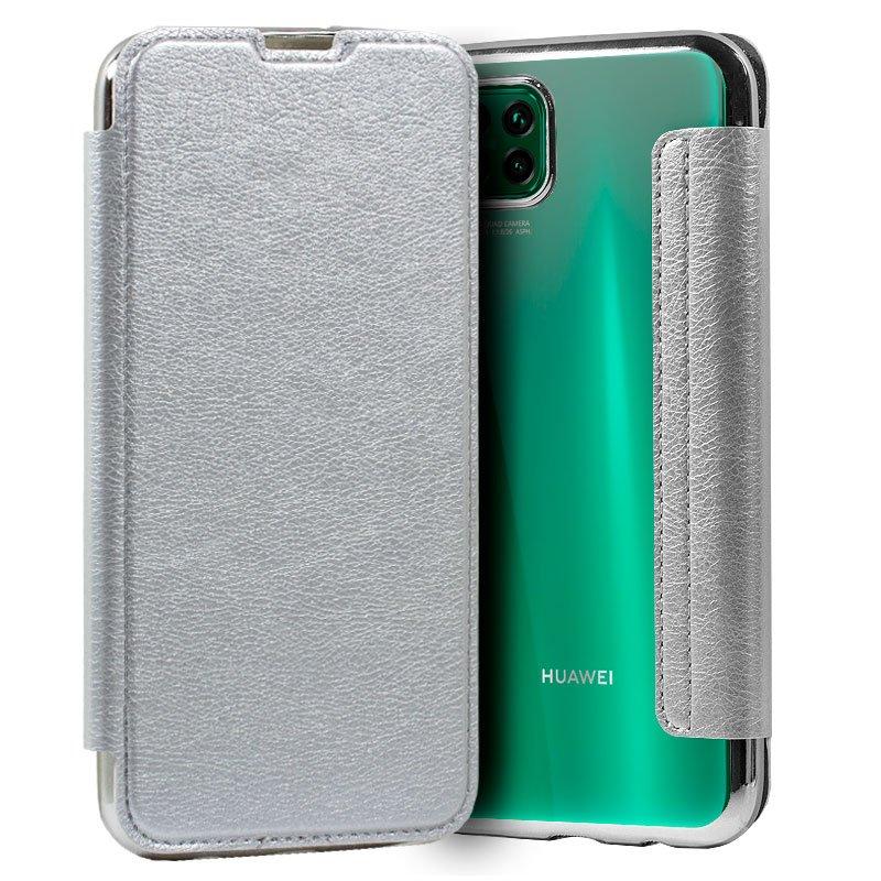 Funda Flip Cover Huawei P40 Lite Leather Plata