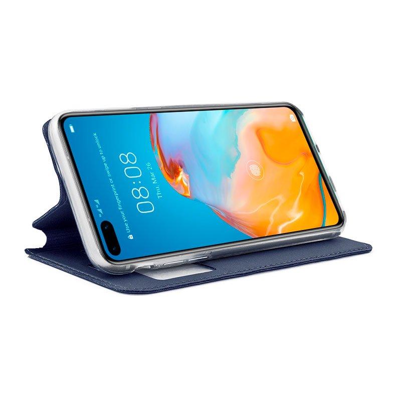 Funda Flip Cover Huawei P40 Pro Liso Azul