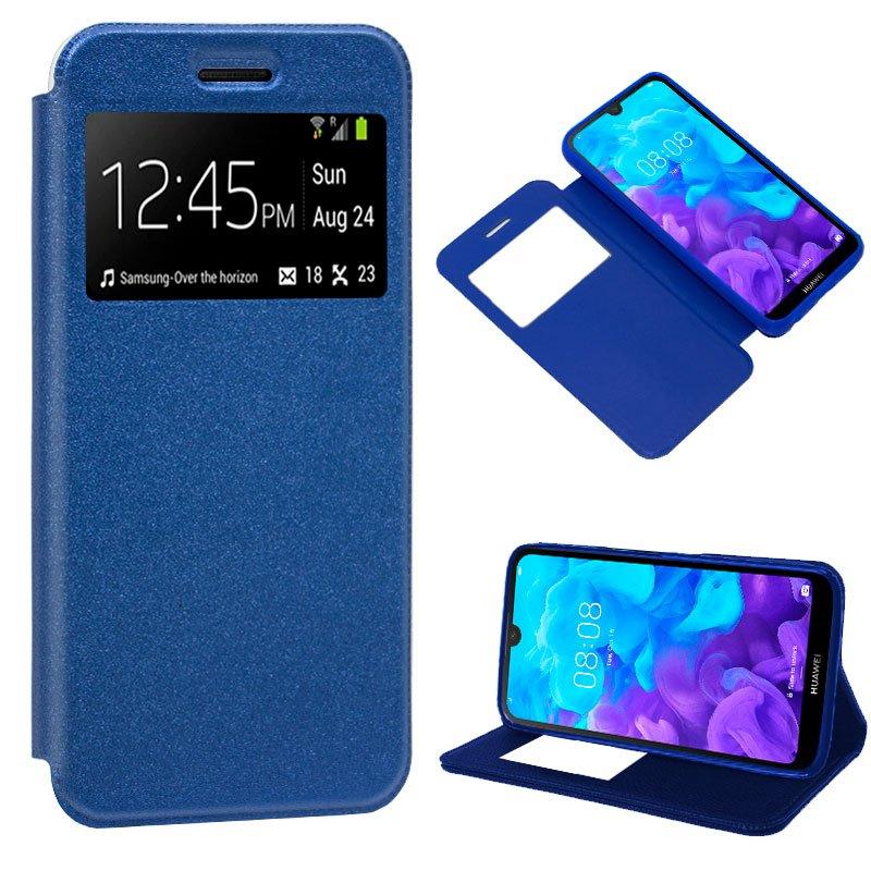 Funda Flip Cover Huawei Y5 (2019) Liso Azul