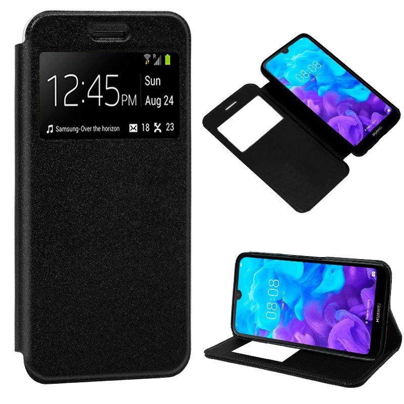 Funda Flip Cover Huawei Y5 (2019) Liso Negro