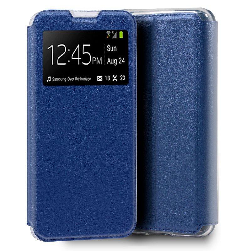 Funda Flip Cover Huawei Y5p Liso Azul