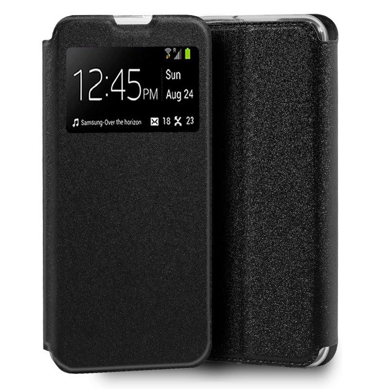 Funda Flip Cover Huawei Y5p Liso Negro
