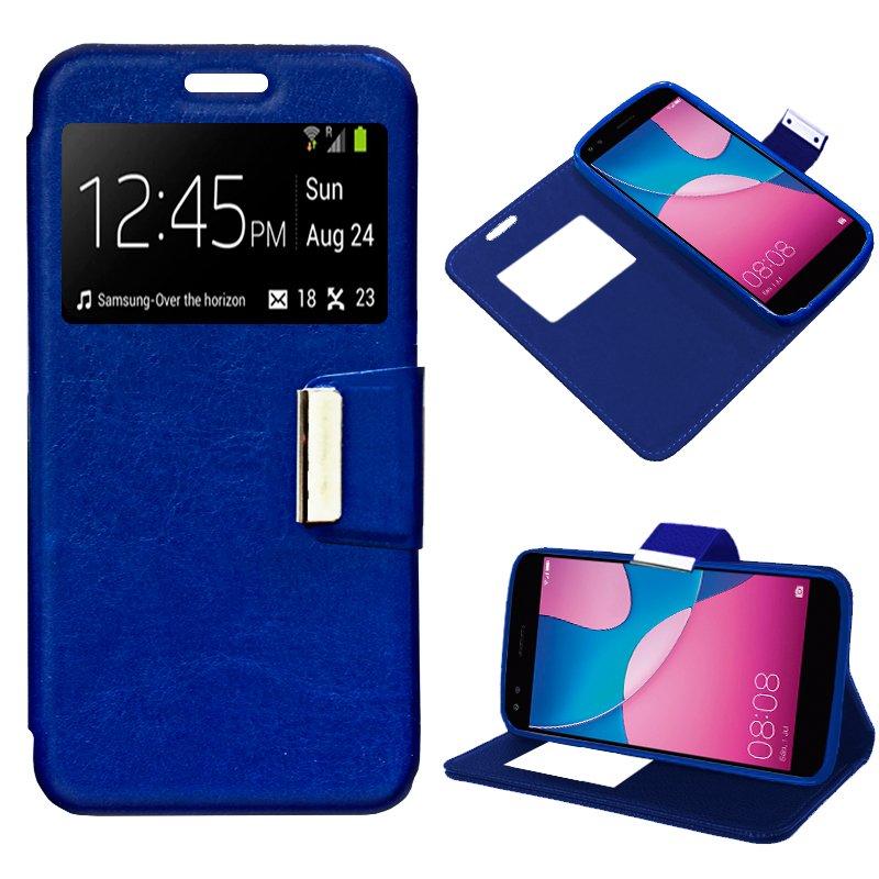 Funda Flip Cover Huawei Y6 Pro (2017) Liso Azul