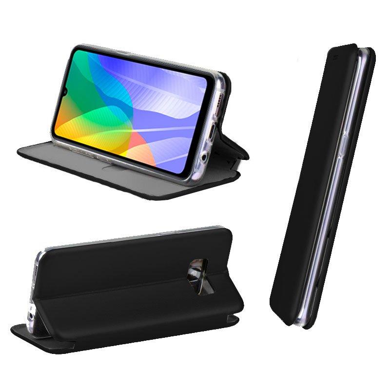 Funda Flip Cover Huawei Y6p Elegance Negro