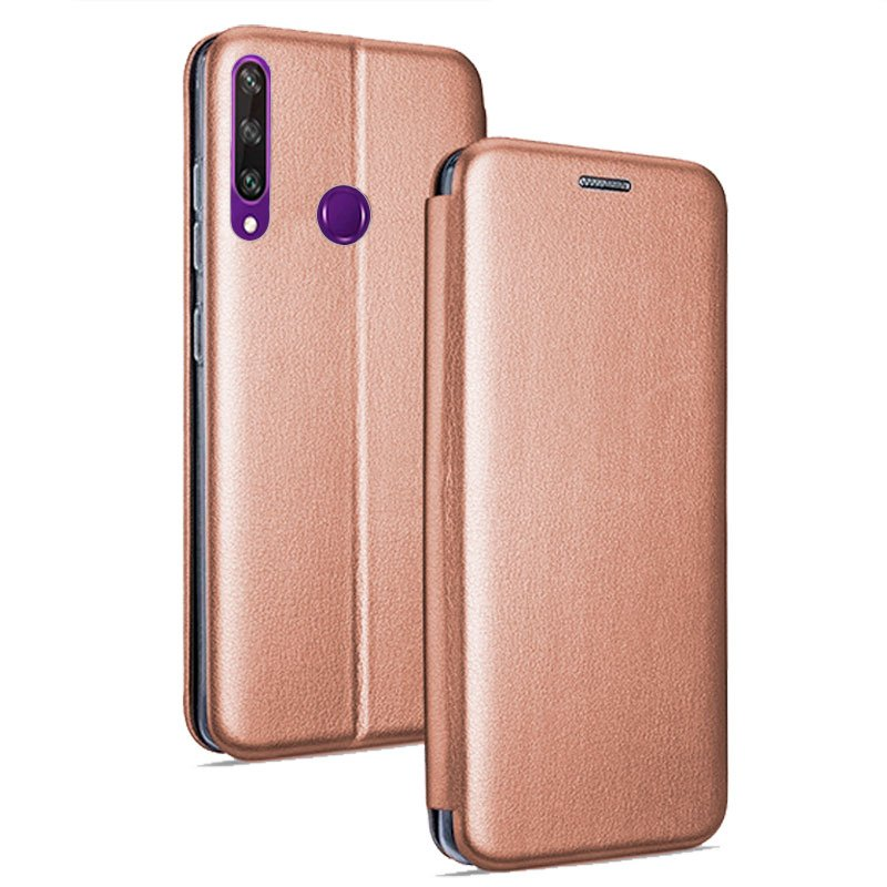 Funda Flip Cover Huawei Y6p Elegance Rose Gold