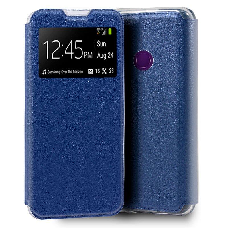 Funda Flip Cover Huawei Y6p Liso Azul