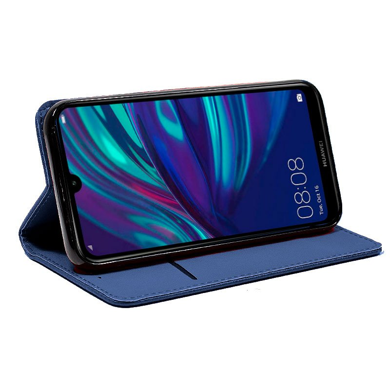 Funda Flip Cover Huawei Y7 (2019) Liso Azul