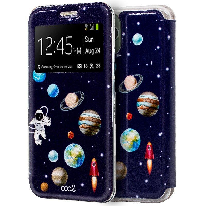 Funda Flip Cover iPhone 11 Pro Max Dibujos Astronauta