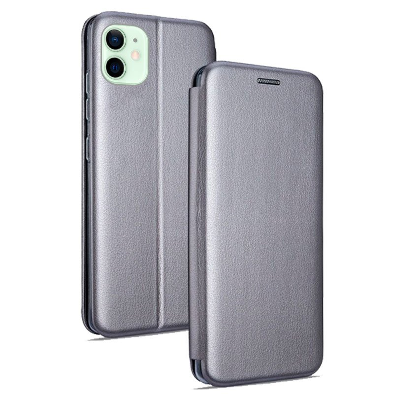 Funda Flip Cover iPhone 12 / 12 Pro Elegance Plata