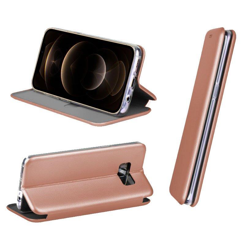 Funda Flip Cover iPhone 12 Pro Max Elegance Rose Gold