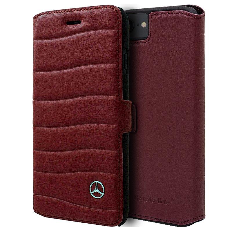 Funda Flip Cover iPhone 6 / 7 / 8 / SE (2020) Licencia Mercedes-Benz Rojo