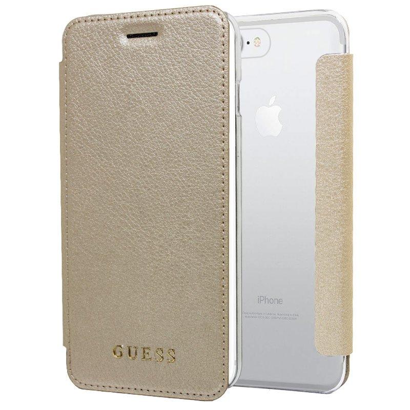Funda Flip Cover IPhone 6 Plus / 7 Plus / 8 Plus Licencia Guess Gold