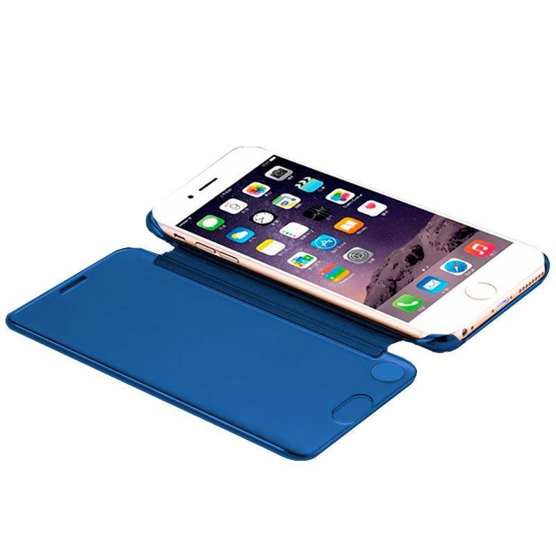 Funda Flip Cover iPhone 7 / 8 / SE (2020) Clear View Azul