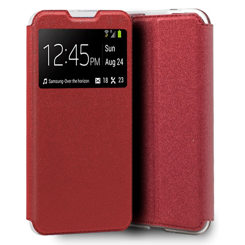 Funda Flip Cover iPhone 7 / 8 / SE (2020) Liso Rojo