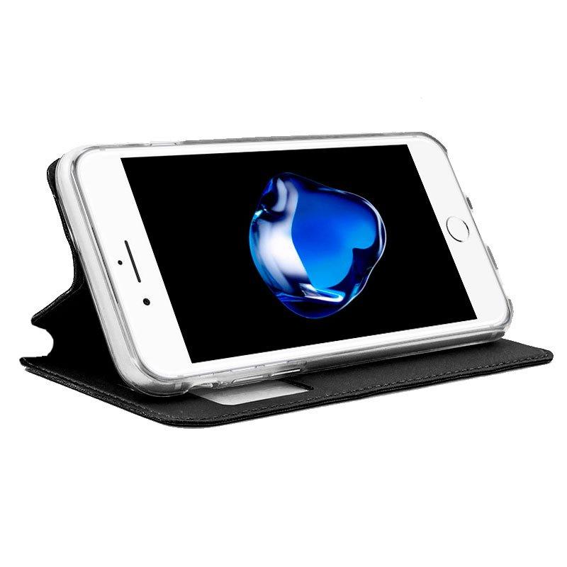 Funda Flip Cover iPhone 7 Plus / iPhone 8 Plus Liso Negro