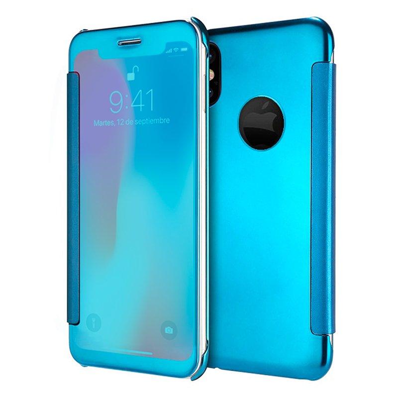 Funda Flip Cover iPhone X / iPhone XS Clear View Azul