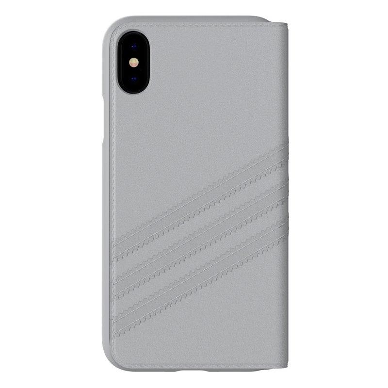 Funda Flip Cover iPhone X / iPhone XS Licencia Adidas Gris
