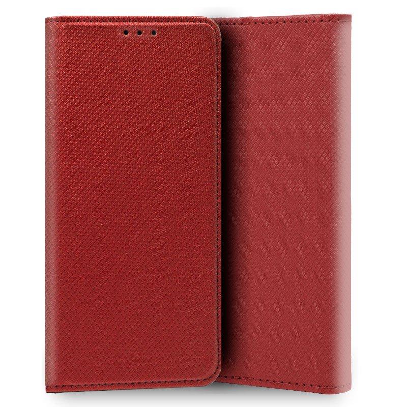 Funda Flip Cover iPhone X / IPhone XS Liso Rojo