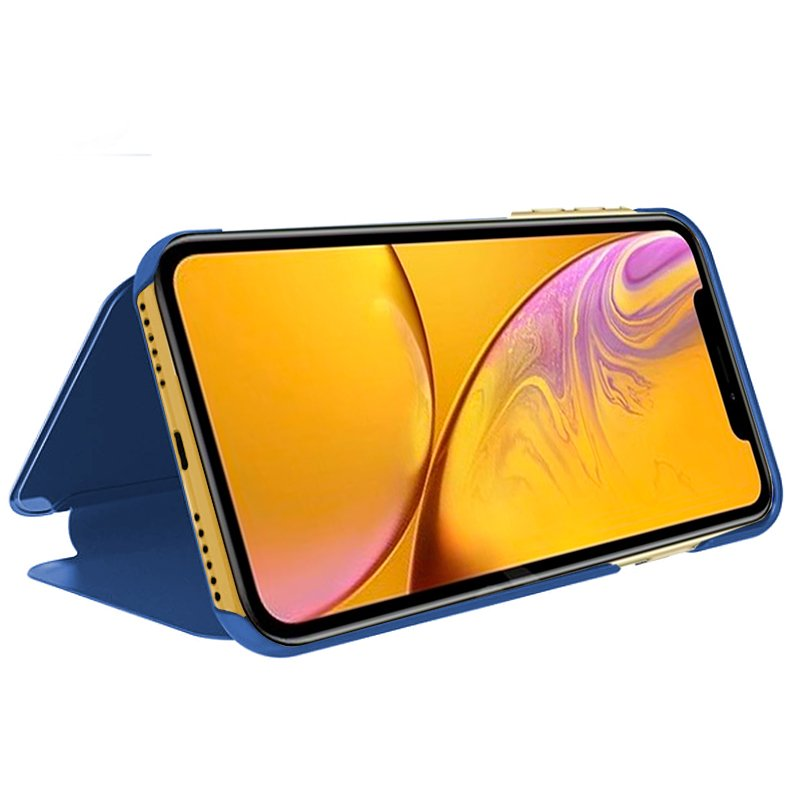 Funda Flip Cover iPhone XR Clear View Azul