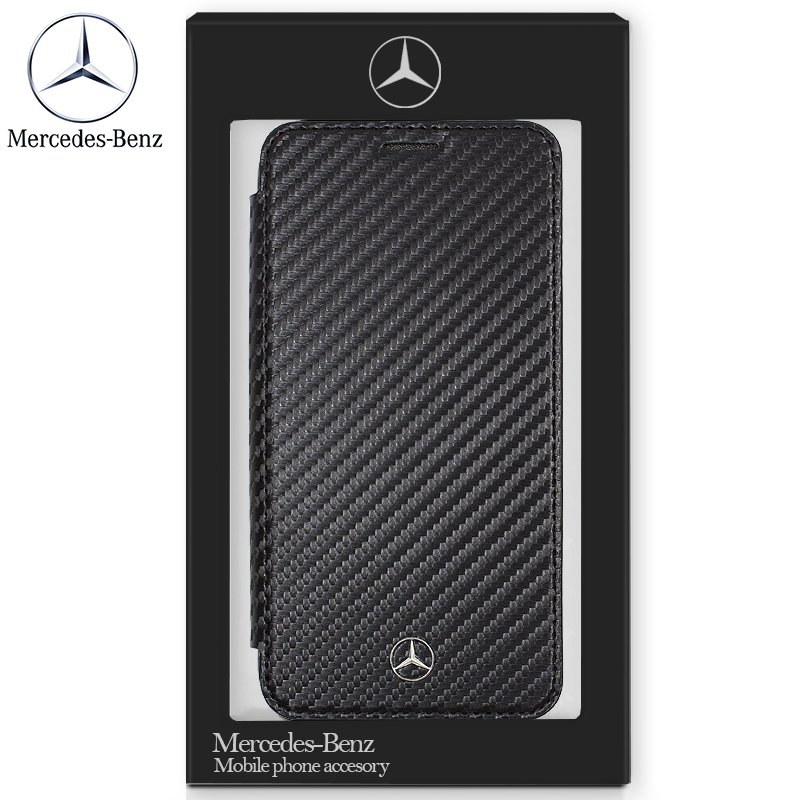 Funda Flip Cover iPhone XR Licencia Mercedes-Benz Negro