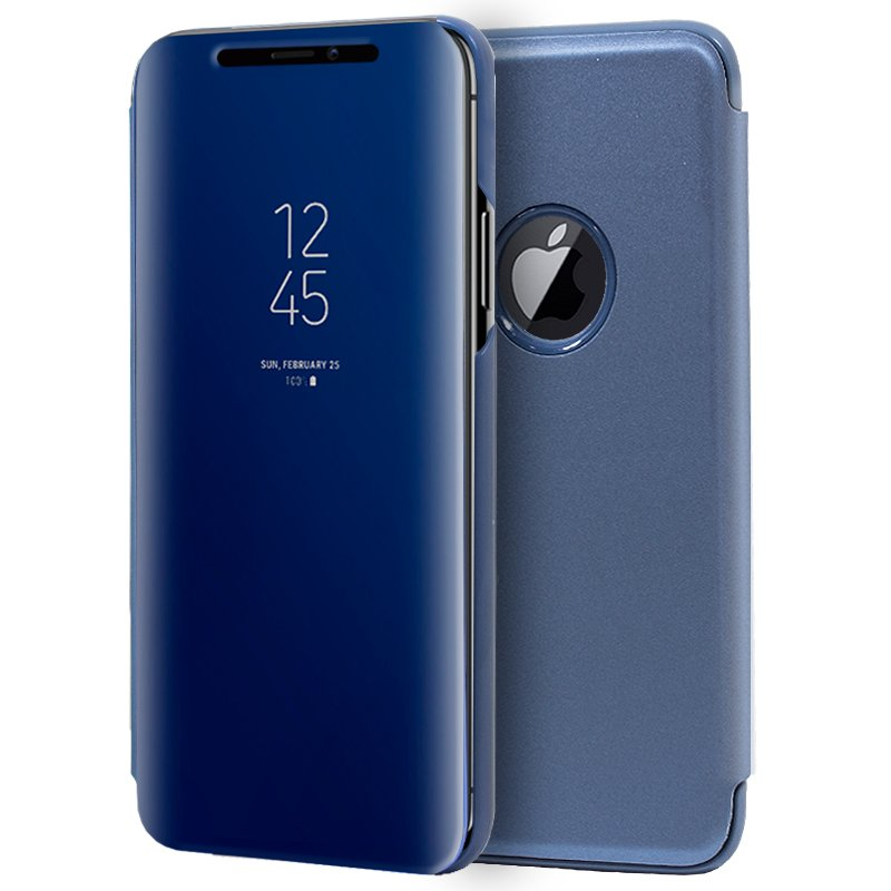 Funda Flip Cover iPhone XS Max Clear View Azul