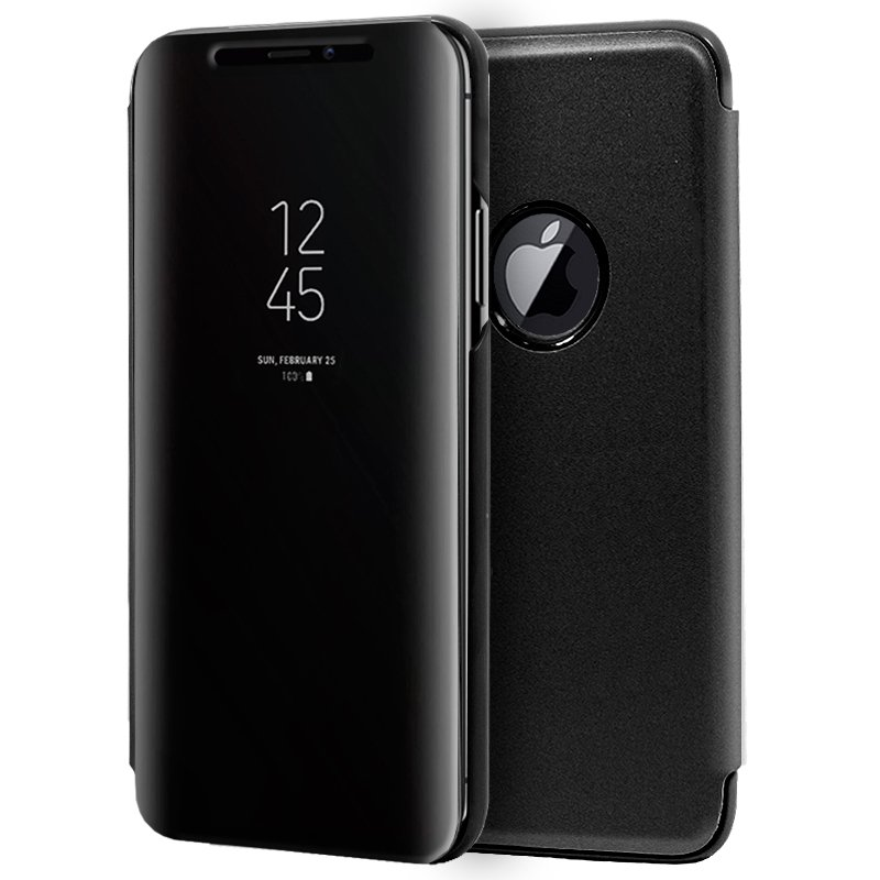 Funda Flip Cover iPhone XS Max Clear View Negro