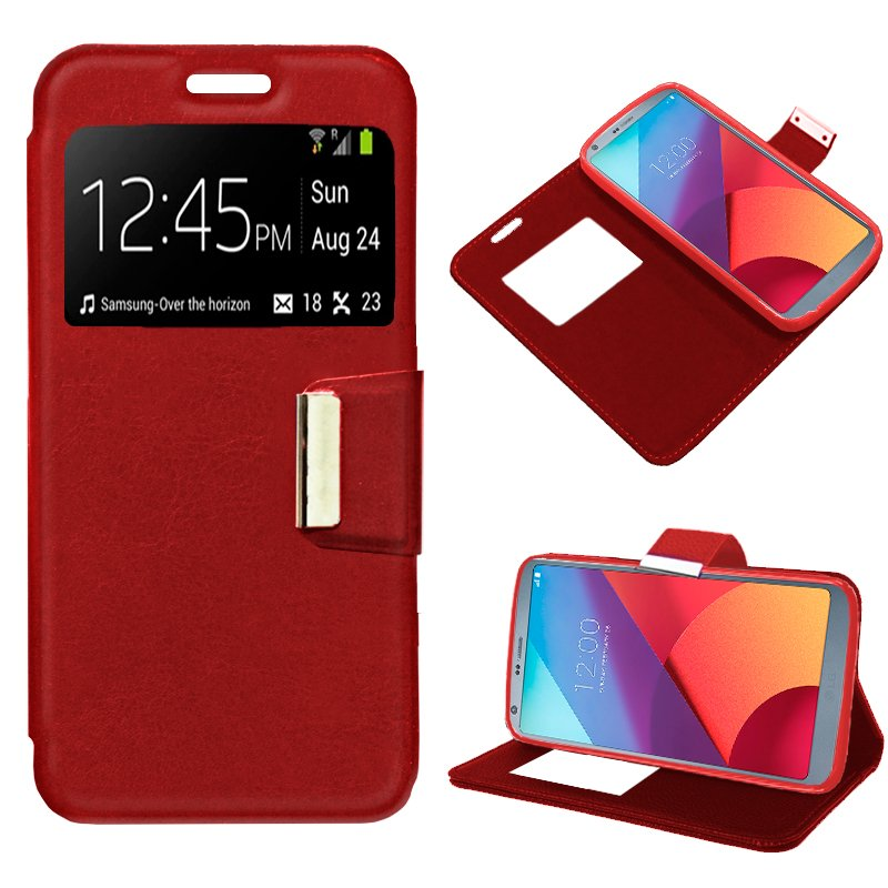 Funda Flip Cover LG G6 / G6 Plus Liso Rojo