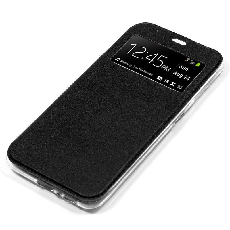 Funda Flip Cover LG G7 ThinQ Liso Negro