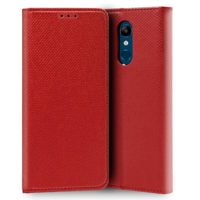 Funda Flip Cover LG K11 Liso Rojo
